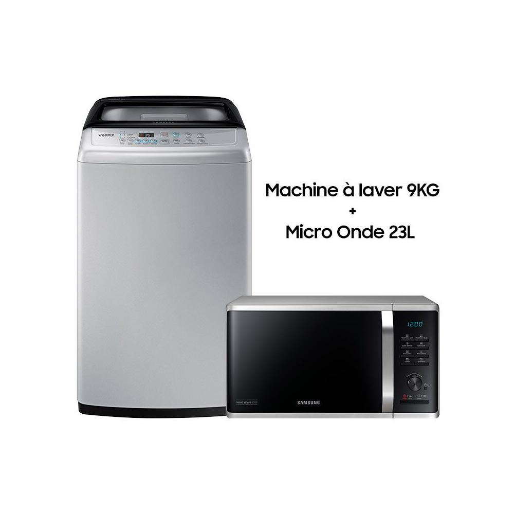 machine à laver Samsung 9kg + four micro onde samsung tunisie