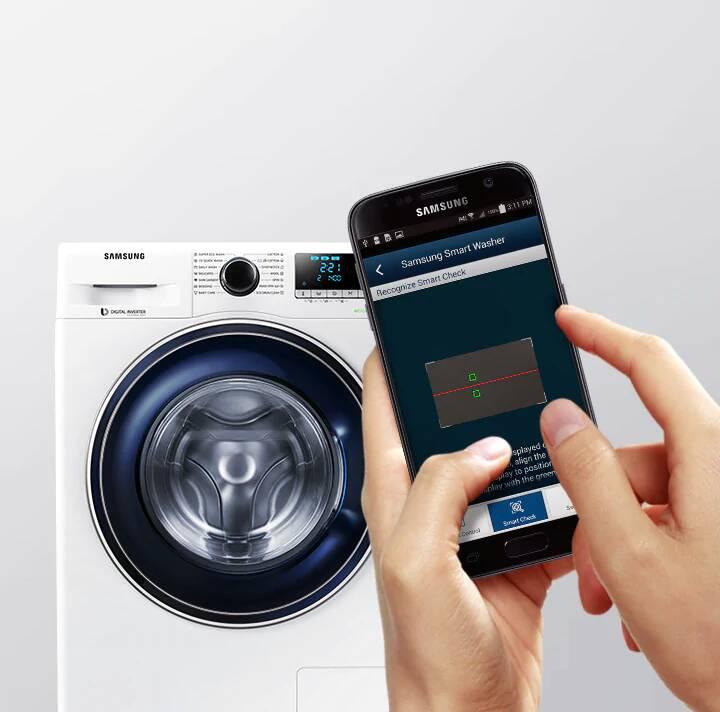 Machine à Laver Samsung EcoBubble 7Kg Blanc
