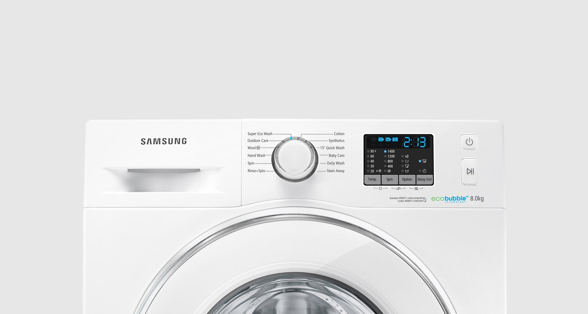 Machine à Laver Samsung Automatique frontale8Kg Gris (WW80J5555FX) Tunisie