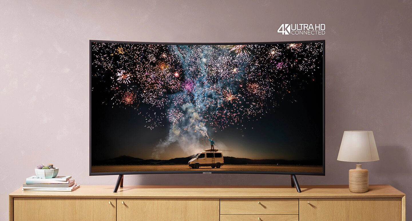 "tv samsung 55"" uhd 4k smart curved ru7300 tunisie"