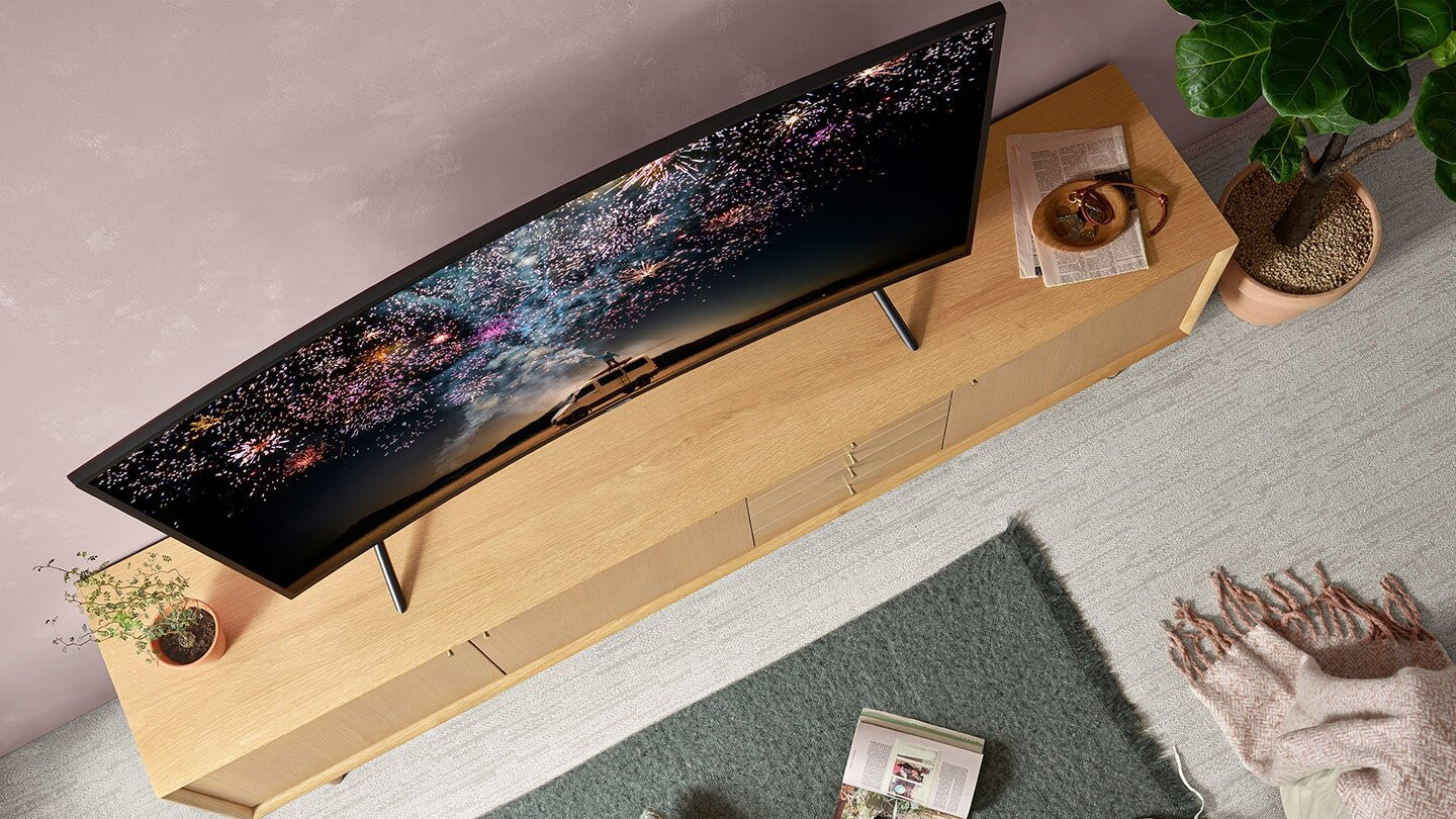 "tv samsung 55"" smart incurvé 4k uhd ru7300 tunisie"