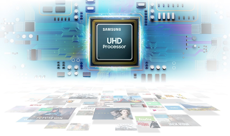 "tv samsung 55"" uhd 4k smart ru7100"