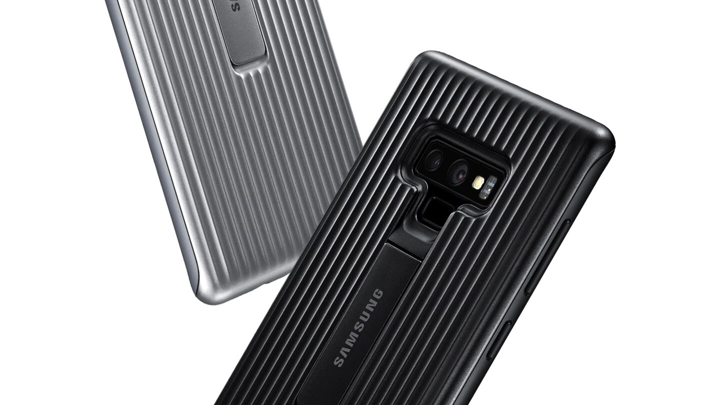 étui galaxy note 9 protective standing cover cache